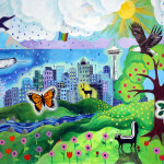 "Bailey Gatzert Mural ""River Otter and Friends"" 2009"